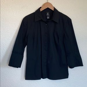 George Black MidSleeve Button Down Blouse